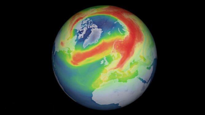 Nad Arktyką utworzyła się dziura ozonowa. Jest prognoza tego, kiedy się zamknie