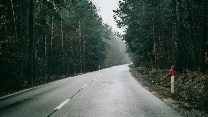 Mokre drogi w niektórych regionach