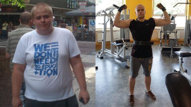 """""""Wypociłem z siebie drugą osobę"""". Zrzucił 64 kg"""