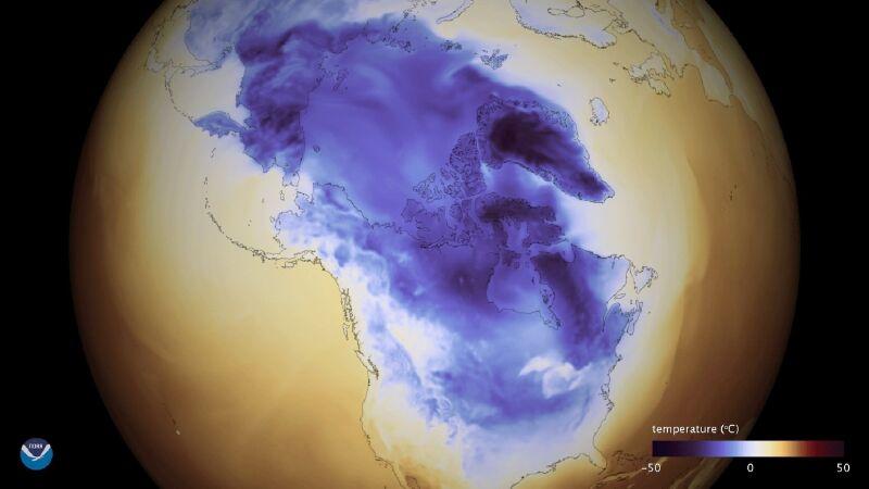 Temperatura w USA (NOAA)