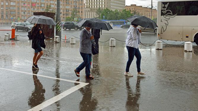 Prognoza pogody na dziś: <br />ulewny deszcz, możliwe burze